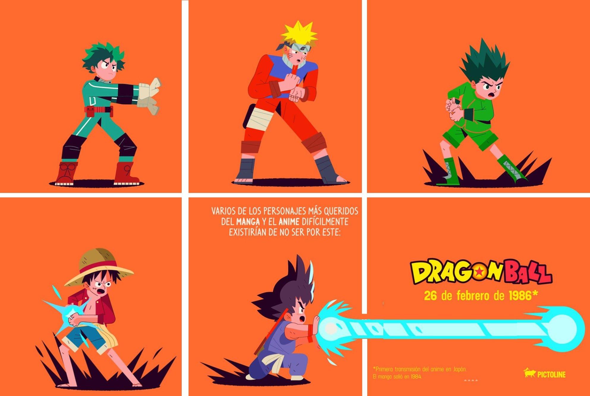 Personajes De Shonen Jump Celebran 33º Aniversario De Dragon