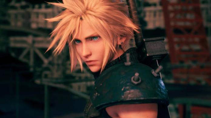 Imagen oficial de protagonista de Final Fantasy VII Remake