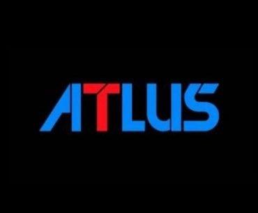 Logotipo oficial de Atlus en fondo negro