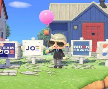 Versiones de Animal Crossing de los candidatos demócratas Kamala Harris y Joe Biden en la Biden Island.