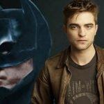 Dos imágenes. Un close up del rostro de Batman y la otra el actor que lo interpretará Robert Pattison