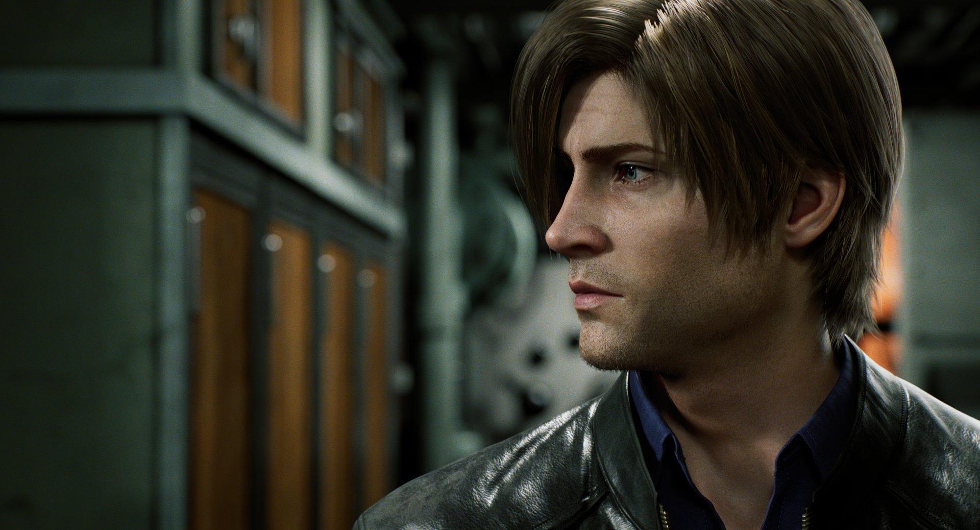 Imagen oficial de Biohazard Infinite Drakness con el protagonista de perfil y al fondo un archivero.