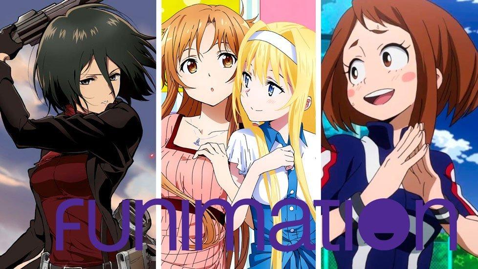 Personajes varios de series que se unen a Funimation Latinoamérica