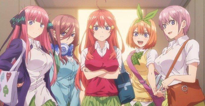 Las protagonistas de The Quintessential Quintuplets, de Negi Habura