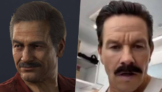 actor Mark Wahlberg interpretando a Sully en la conclusión del rodaje de Uncharted