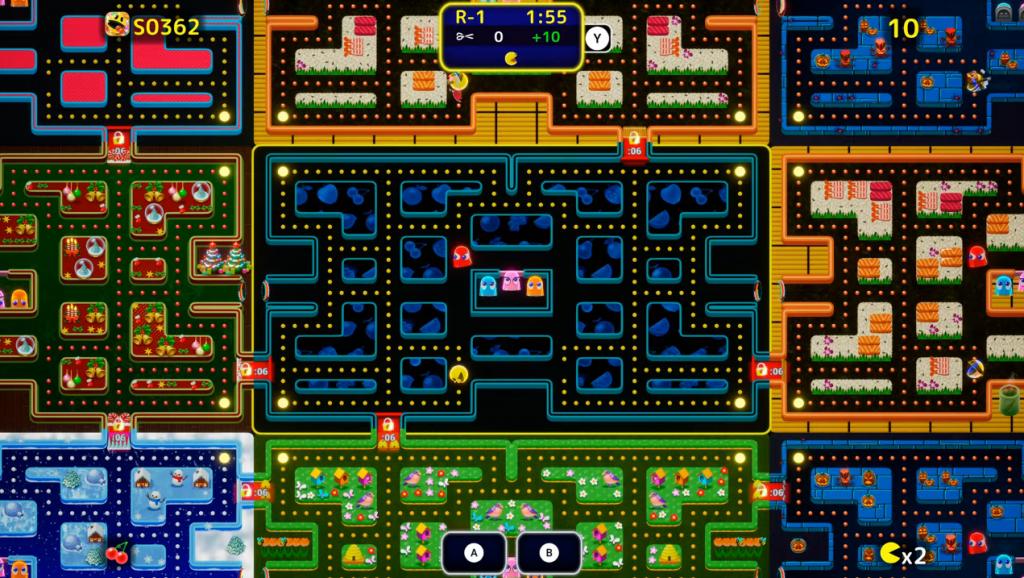 Modo espectador de Pac-Man: Mega Tunnel Battle.