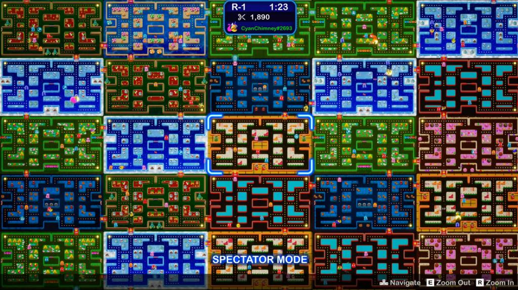 20 escenarios de Pac-Man: Mega Tunnel Battle.
