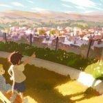 Protagonistas de Pokémon Twilight Wings como niños mirando al horizonte