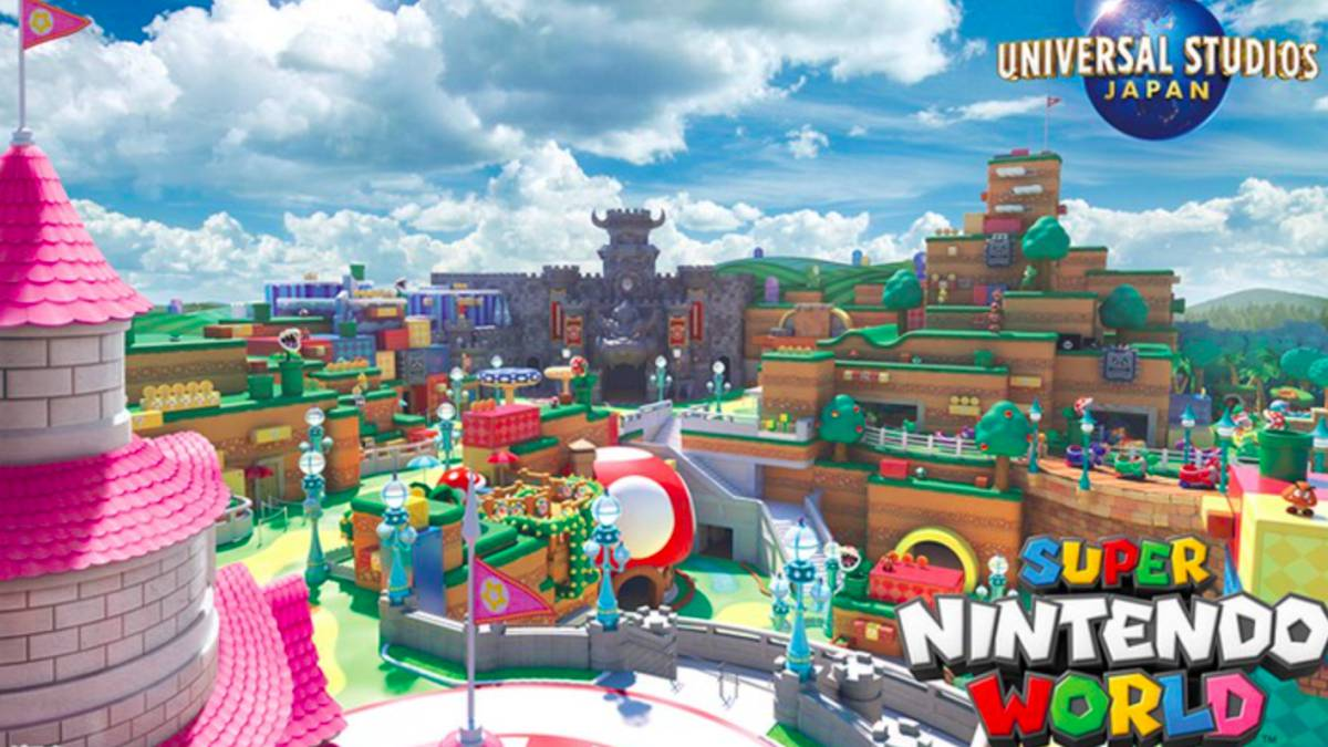 Imagen referencial de la atracción Super Nintendo World en Universal Studios Japan