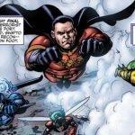 El equipo de Payback volando a la batalla en el cómic de The Boys