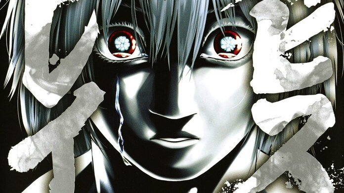 Portada de Abyss Rage dibujada en blanco y negro de su protagonista llorando