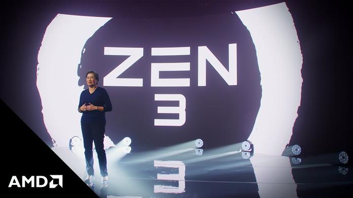 Lisa Su, CEO de AMD, presenta Zen 3, la nueva generación de CPUs.