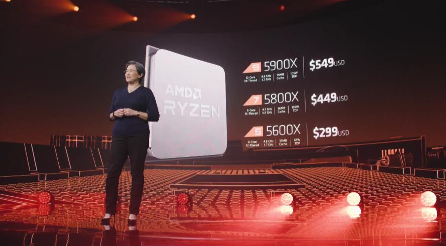 Lisa Su presenta los precios de los nuevos procesadores de AMD.