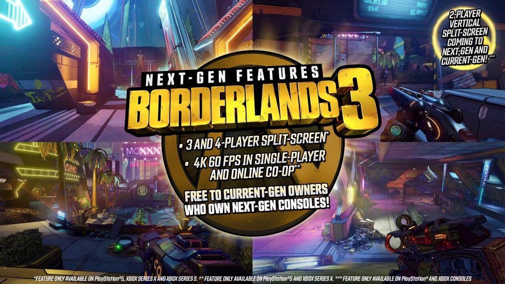 Detalles técnicos de la versión de Borderlands 3 como la resolución (4K) y los FPS (60).