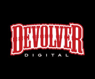 Logo de Devolver Digital en un fondo negro