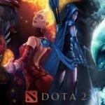 Una manga de agua junto a una arquera vestida de azul al lado de una peligrosa piromántica y un guerrero con una máscara de demonio rojo