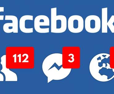 Página de inicio de Facebook con notificaciones.