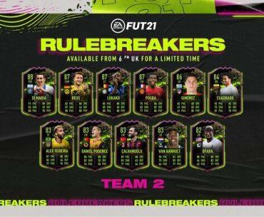 Lista de jugadores romperreglas de Ultimate Team.