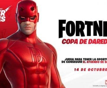 Imagen de Daredevil junto al logo de la Copa Daredevil, un nuevo torneo que nos premiará con una skin del antihéroe.