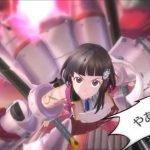 Imagen de Sakura Kakumei ~Hana Saku Otome-tachi~ con la protagonista volando directo a la pantalla y al fondo su mecha rosa.