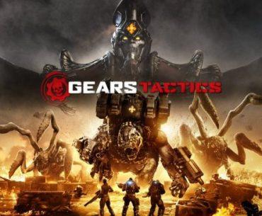 Los héroes de Gears Tactics rodeados de sus enemigos y fuego