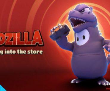 Imagen promocional de Godzilla en Fall Guys.