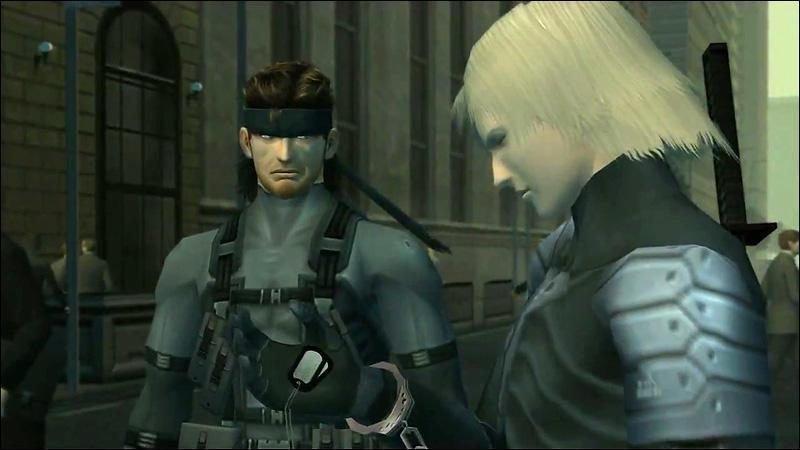 Imagen de Metal Gear Solid 2 con Snake y Raiden.