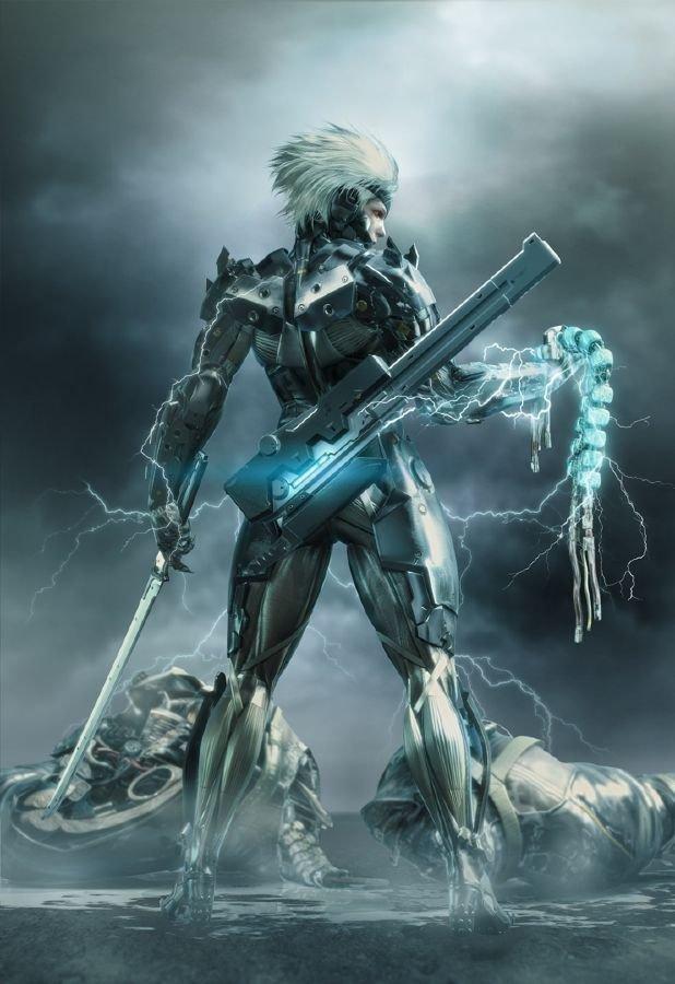 Póster de Metal Gear Rising, la primera versión del juego.