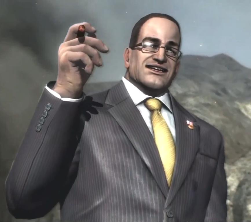 Imagen de Steven Armstrong, enemigo final del juego.