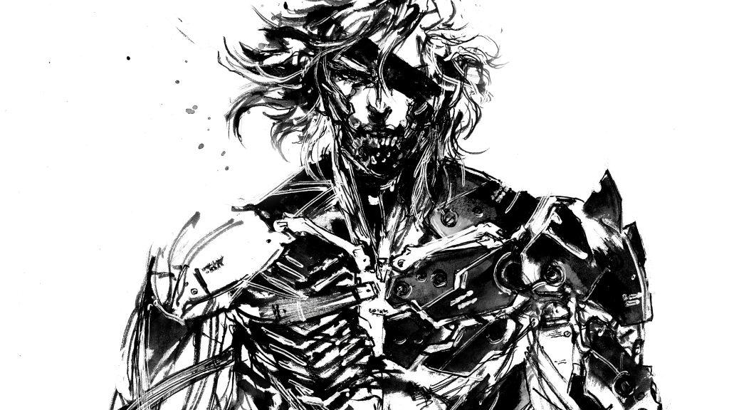 Arte de Raiden dibujado por Yoji Shinkawa, artista principal de la saga.