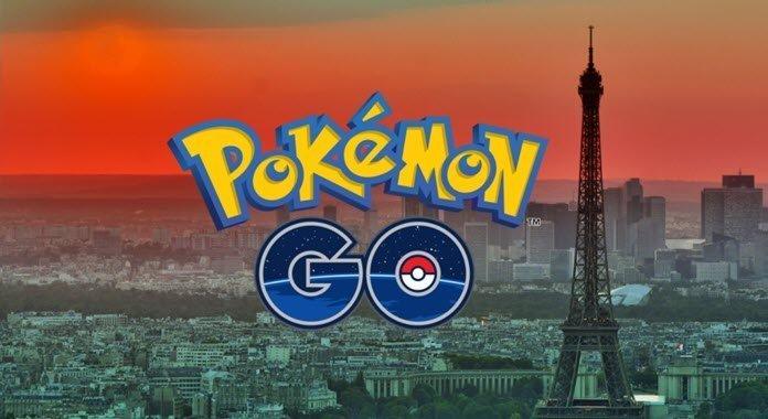 El logo de Pokémon Go con la ciudad de París al fondo en donde destaca la Torre Eiffel