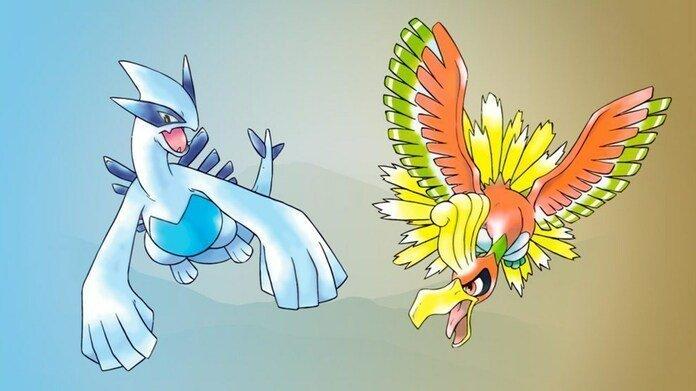 Lugia y Ho-Oh, criaturas insignia de Pokémon Gold y Silver.