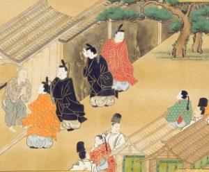 Ilustración del pergamino original de la leyenda
