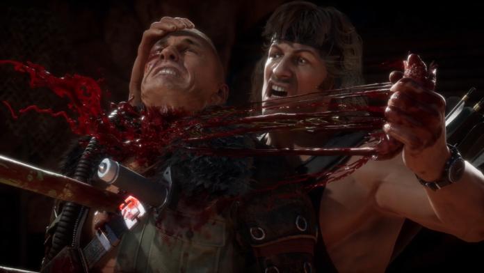 Rambo destruye el cuello de Kabal con su fatality.