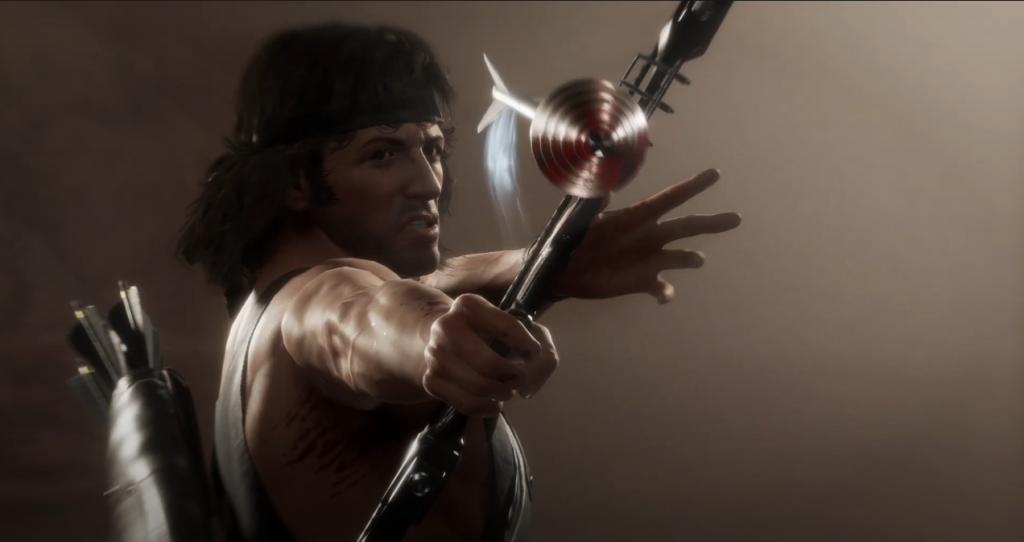 Rambo dispara su flecha explosiva para su ataque especial.