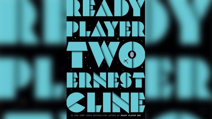 Portada de Ready Player Two, fondo negro y letras en azul.