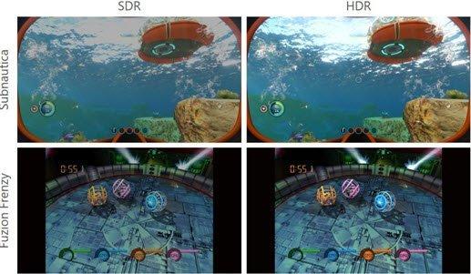 cuatro imagénes que muestran como se ven en versiones Xbox Series X y Xbox One