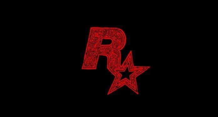 Logo de Rockstar Games en color negro con un fondo en color negro