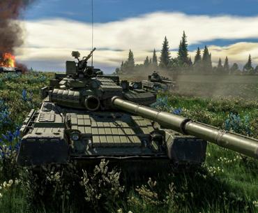 Arte in-engine de tanque en War Thunder.