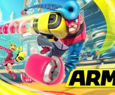 Luchadores de Arms en una colorida arena de combate
