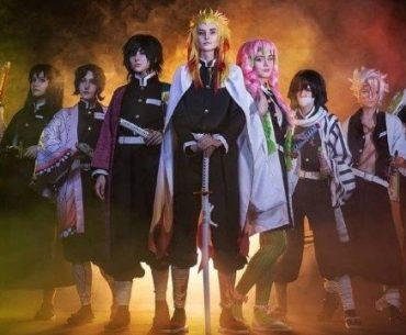Cosplay de Kimetsu no Yaiba por Blair y su grupo