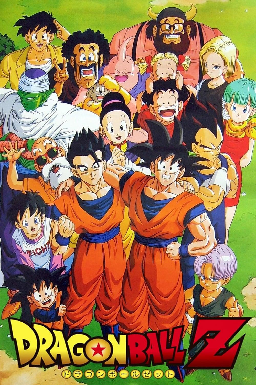 Póster de Dragon Ball Z con todo el elenco