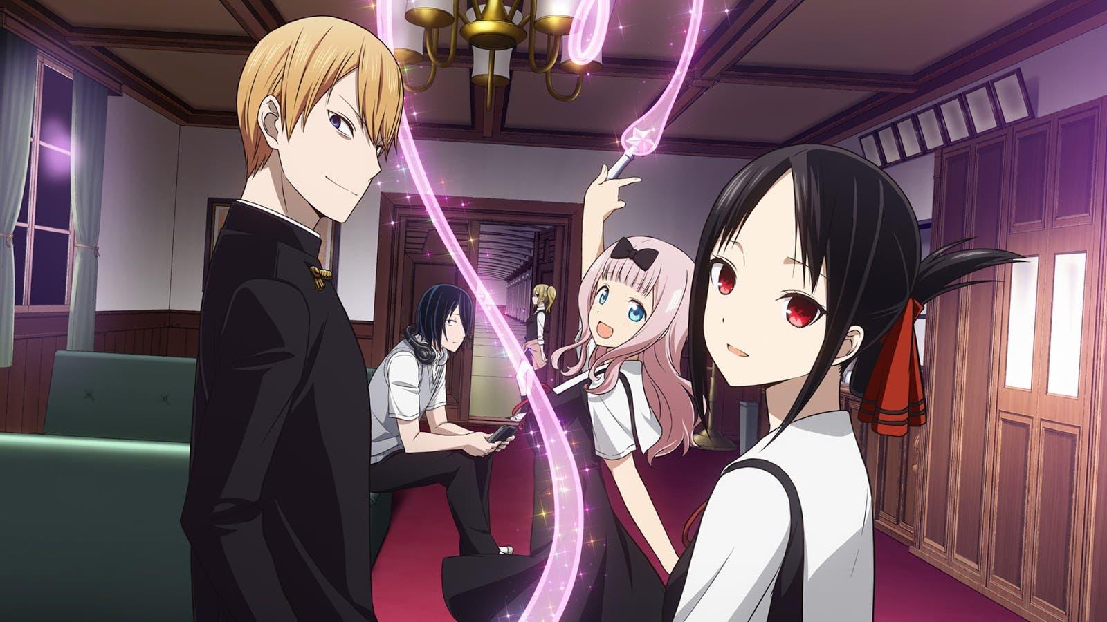 Los personajes principales de Kaguya-sama Love is War
