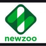 Logotipo consultora Newzoo cuadrdo invertido con diseñor blanco, verde y negro sobre fondo blanco.