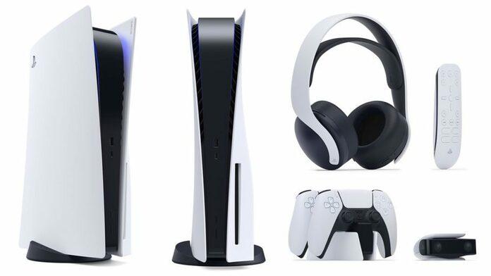 Consola PS5 y accesorios oficiales.
