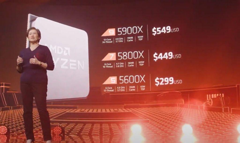 Lisa Su presenta los nuevos procesadores de AMD.