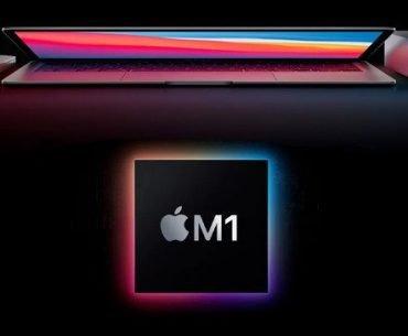 Apple M1 con logo del nuevo chip