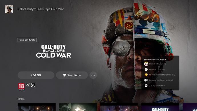 Versión crossgen de COD: Black Ops Cold War.