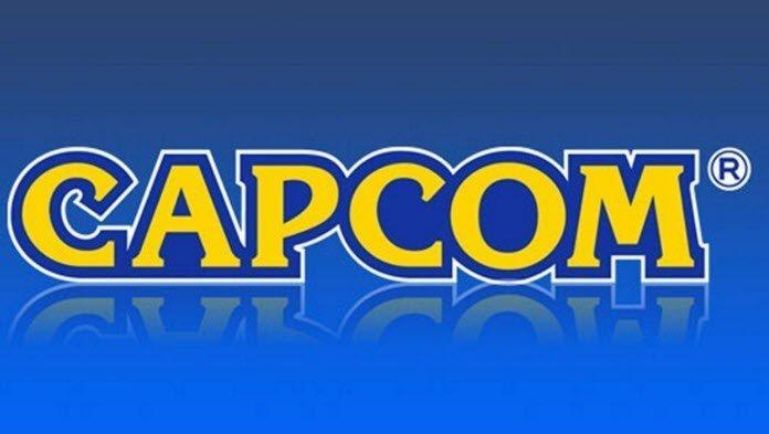 Logo de Capcom en un fondo azul