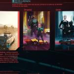 Elección de clase en Cyberpunk 2077.